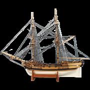 Hand Built Model Of The Armed Tender HMS Supply - First Fleet 1788
