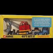 Corgi Major Gift Set No. 27 Bedford Machinery Carrier & Priestman Club Shovel Rare Window Box