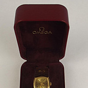 Stylish Ladies 18ct Gold Manual Wind Omega Wristwatch With 18ct Gold Bracelet 1987