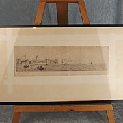 Old Portsmouth - Original Drypoint Etching By Rowland Langmaid
