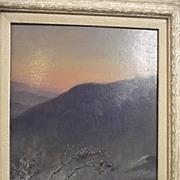 Portrait Oil On Board Of Indian Hills By Jamini Prakash Gangooly (1876 - 1953)