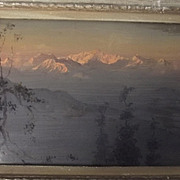 Landscape Oil On Board Of Indian Hills By Jamini Prakash Gangooly (1876 - 1953)