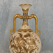 Late Victorian Royal Worcester Thistle Vase
