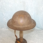 Named British WW1 Mk1 Circa 1916 Brodie Helmet With Liner