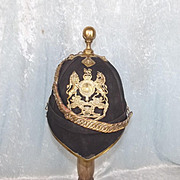 Edwardian 1878 Pattern Royal Artillery Officers Blue Cloth Home Service Helmet