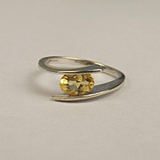 9ct White Gold Citrine Ring UK Size N US 6 ¾