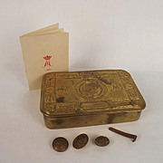 Brass Princess Mary Christmas Tin & Card 1914