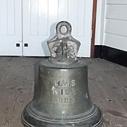 The Bronze Ships Bell From The Victorian Trafalgar Class Battleship HMS Nile 1888