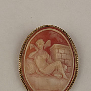 1992 9ct Yellow Gold Cameo Brooch