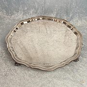Large And Heavy Sheffield 1954 Silver Salver