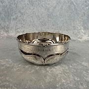 Art Nouveau Sheffield 1910 Small Silver Bowl