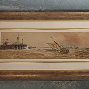 Fine Watercolour By Thomas Bush Hardy (1842-1897) Entitled Over the Bar