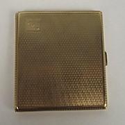 Birmingham 1929 George V Engraved 9ct Gold Cigarette Case
