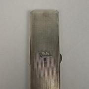 Birmingham 1933 George V  Silver Long Double Cigarette Case