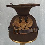 WW1 Prussian O/R Felt Ersatz Uhlan Chapka Helmet