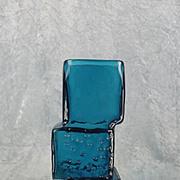Geoffrey Baxter For Whitefriars Kingfisher Blue Drunken Bricklayer Glass Vase
