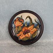 1999 Mounted Moorcroft Lily Pattern Dish