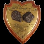 HMS Colossus Battleship Jutland Fragments Plaque