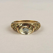 9ct Yellow Gold Oval Cut Citrine Ring UK Size N US 6 ½