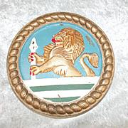 HMS Vanguard Battleship Pinnace Bronze Boat Badge