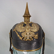 A WW1 Prussian Reserve Officer's Pickelhaube Helmet