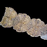 Exquisite Vintage Gilt Lace Trim Long 5 yard Length Fancy Scallops