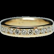 Thin .50ctw Diamond Anniversary Band 14k Yellow Gold Wedding Ring