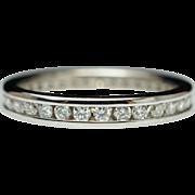 .46ctw Eternity Diamond Wedding Band Anniversary Ring 14k White Gold - Size 5