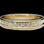 Vintage .45ctw Natural Diamond Wedding Band Anniversary Ring - Size 7