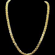 Vintage Estate 14k Yellow Gold Link Necklace