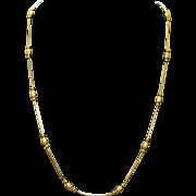 Vintage Estate 14k Yellow Gold Necklace