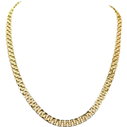 Estate 14k Yellow Gold Layered Chain Necklace