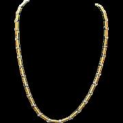 Vintage Estate Yellow Gold Cylinder Necklace