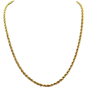 Vintage Estate 14k Yellow Gold Chain Necklace
