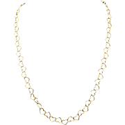 Vintage Estate Yellow Gold Open Heart Necklace