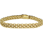 Vintage Yellow Gold Chain Link Bracelet