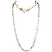 Vintage Cultured Pearl Double Strand Necklace