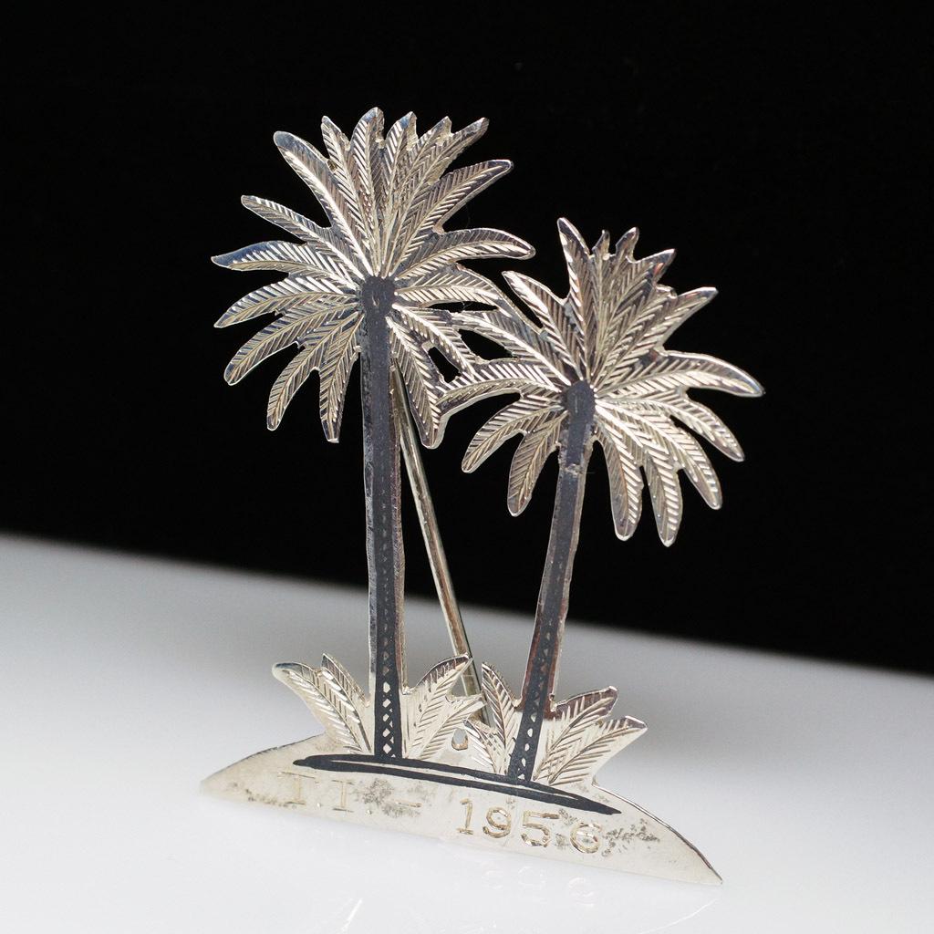 Vintage Sterling Silver Palm Tree Brooch