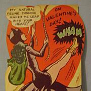 Vintage Catwoman Valentine