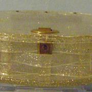Vintage Plastic Sparkle Purse or Box