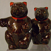 SOLD Vintage Teddy Bear Salt and Pepper Shakers