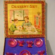 Vintage Children's Boxed Dessert Set