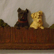Vintage Scottie Dog Necktie Rack