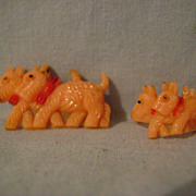 Vintage Scottie Plastic Child's Jewerly