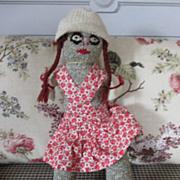 Vintage Sock Doll Girl