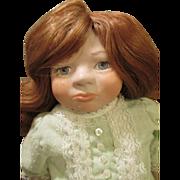 Sweet Redheaded Artist Doll - Pretty Details