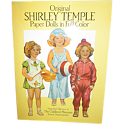 Shirley Temple Paper Doll Set from the Collection of The Children's Museum in Boston, MA