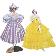 Paper Dolls in Godey Fashion