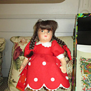 "Lenci Doll - Moira - 13"" Tall with Original Box and COA"