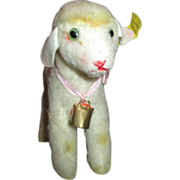 "Adorable 5"" White Steiff Lamb - Rite of Spring - Perfect Doll Prop"